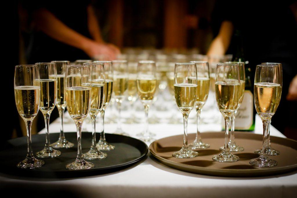 Glasses of drinks